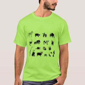 Camiseta Colagem animal do mamífero