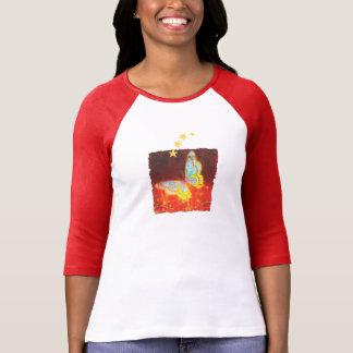 Camiseta Colagem bonita dos fogos-de-artifício da borboleta