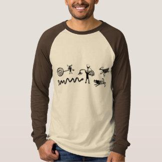 Camiseta Colagem da arte da rocha
