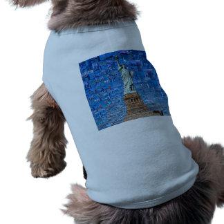 Camiseta colagem da estátua da liberdade - arte da estátua