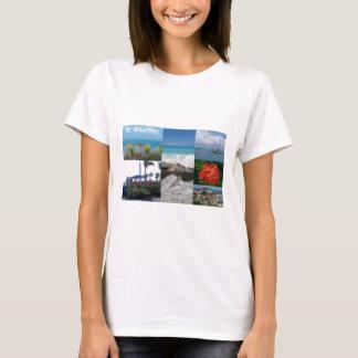 Camiseta Colagem da fotografia do St. Maarten-Sint Martin