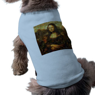 Camiseta colagem de Mona lisa - mosaico de Mona lisa - Mona