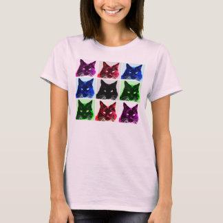 Camiseta colagem do gato de 9 vidas