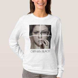 Camiseta Colagem órfão do clone do preto |