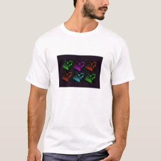 Camiseta Colagem velha da máquina de escrever