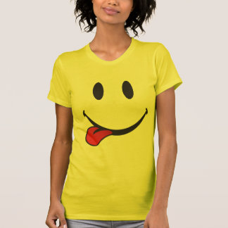 Camiseta Colando para fora o emoji da língua