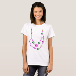 Camiseta Colar do grânulo do carnaval