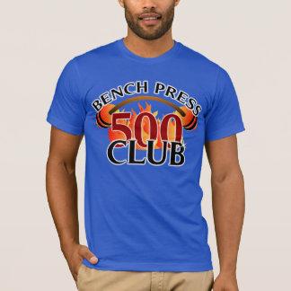 Camiseta Colar do halterofilismo da imprensa de banco de