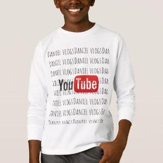 Camiseta Coleção de youtube dos vlogs de Daniel