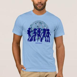 Camiseta Coleção do T do disco: Bola do azul do disco