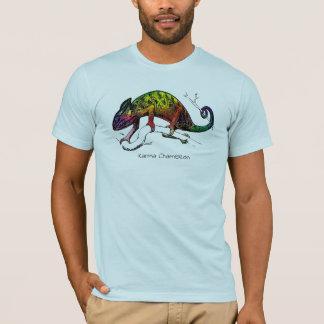 Camiseta Coleção tropical do T: Camaleão das karmas