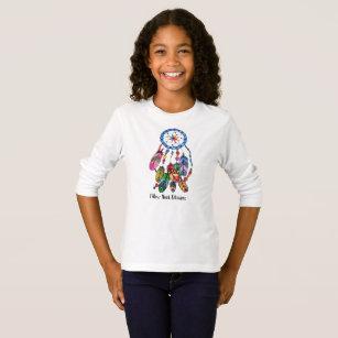 Camiseta Coletor do sonho do arco-íris da aguarela &