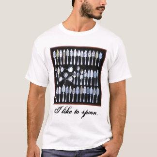 Camiseta colheres do ab, eu gosto de dar