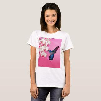 Camiseta Colibri e flores