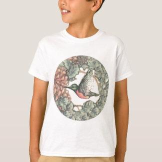 Camiseta Colibri & flores