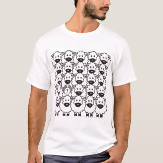 Camiseta Collie farpado no t-shirt dos carneiros