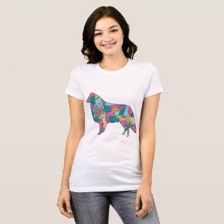 Camiseta Collie favorito do t-shirt do jérsei das mulheres