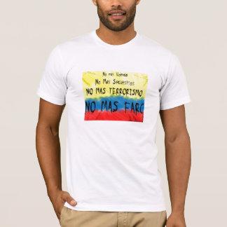 Camiseta Colômbia contra o farc dos las