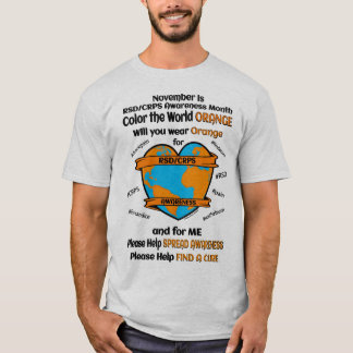 Camiseta Colora a laranja… RSD/CRPS do mundo