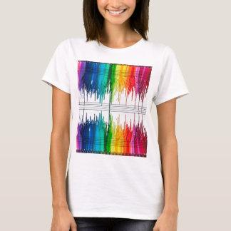 Camiseta Colora a música ou a música a cor