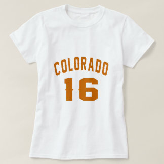 Camiseta Colorado 16 designs do aniversário