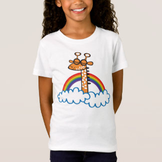 Camiseta Colorida Jirafa. Girafa. Arcoiris, arco-íris