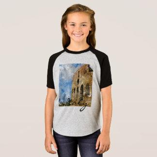 Camiseta Colosseum na aguarela de Roma Italia