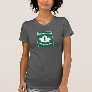 Camiseta Columbia Britânica, sinal da estrada de