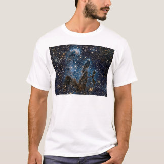 Camiseta Colunas infravermelhas da nebulosa de Eagle da