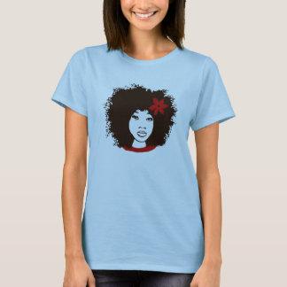 Camiseta Com a flor do vermelho de A