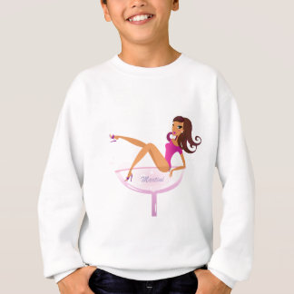 Camiseta com a menina de Martini do vintage