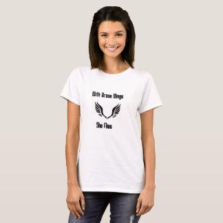 Camiseta Com asas bravas voa