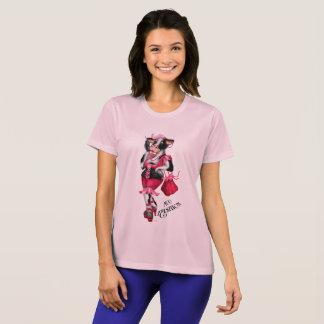 Camiseta COM do Esporte-Tek das mulheres do campeão das