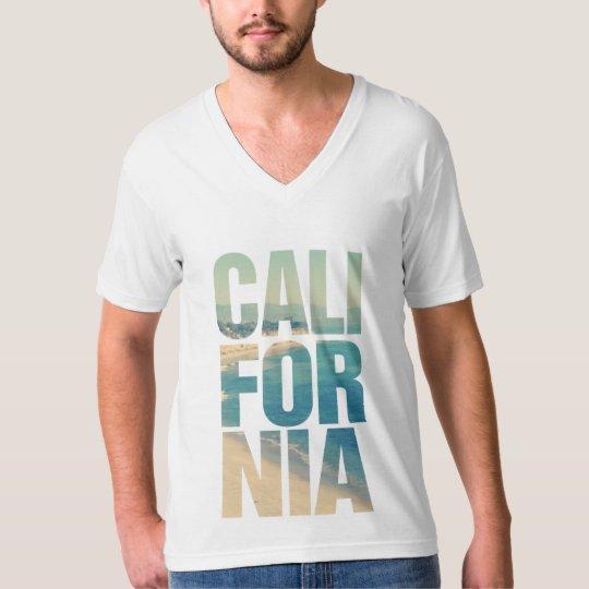 Camiseta com ilustração californiana.