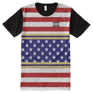 Camiseta Com Impressão Frontal Completa A bandeira de América colore o t-shirt dos