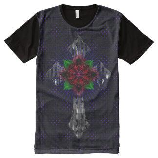 Camiseta Com Impressão Frontal Completa A cruz celta e aumentou