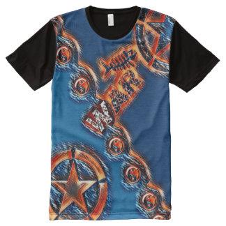 Camiseta Com Impressão Frontal Completa A guerra a mais popular a mais popular Yin Yang do