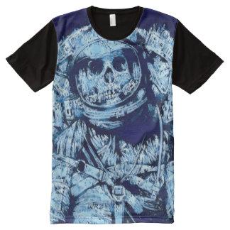 Camiseta Com Impressão Frontal Completa A maioria de arte congelada popular da fantasia da