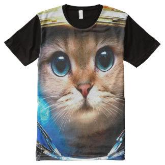 Camiseta Com Impressão Frontal Completa A maioria de arte popular da fantasia do nirvana