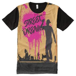 Camiseta Com Impressão Frontal Completa A rua sonha a arte dos grafites