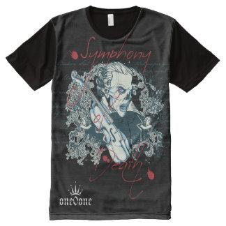 Camiseta Com Impressão Frontal Completa A sinfonia da morte