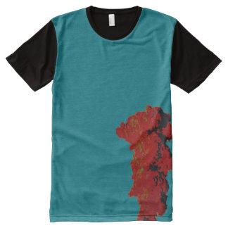 Camiseta Com Impressão Frontal Completa Acima no fumo