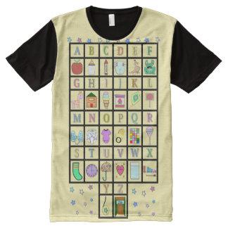 Camiseta Com Impressão Frontal Completa Alfabeto de ABDL por todo o lado em | ABDL |