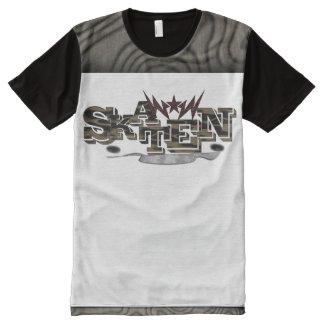 Camiseta Com Impressão Frontal Completa alpargata de monopatim com símbolo e escritura