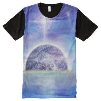 Camiseta Com Impressão Frontal Completa Ar da água da terra V043