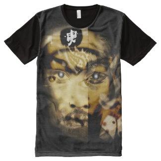 Camiseta Com Impressão Frontal Completa Arte abstracta caótica da colagem