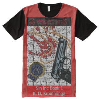 Camiseta Com Impressão Frontal Completa Arte do livro por K.D. Kromminga--Wraith, Pecado