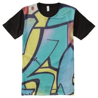 Camiseta Com Impressão Frontal Completa Arte dos grafites