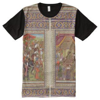 Camiseta Com Impressão Frontal Completa Arte muçulmana islâmica de Boho do Islão de India
