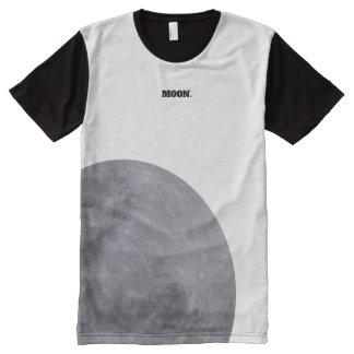 Camiseta Com Impressão Frontal Completa Astronomia da fotografia da lua